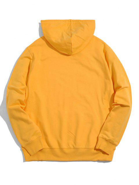 womens Helping Hands Graphic Front Pocket Lounge Hoodie - YELLOW S Mobile
