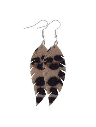 Leopard Leaf Shape Drop Earrings - from $2.91
