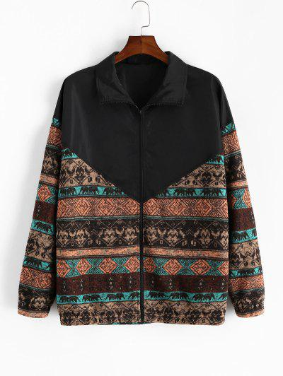 Colorblock Spliced Tribal Print Jacket - from $26.49