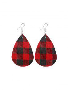 Plaid Water Drop Earrings