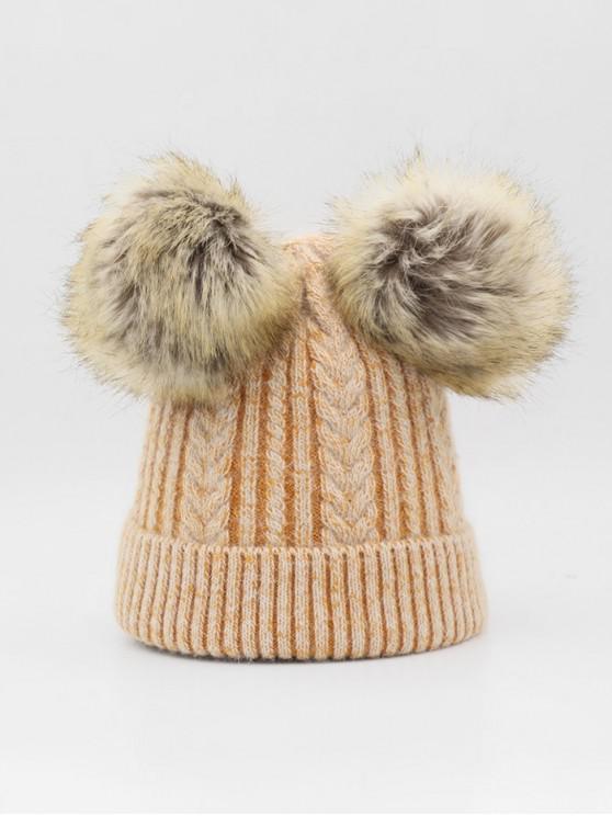 الشتاء غامض كرات مزين القبعة - النمر البرتقالي
