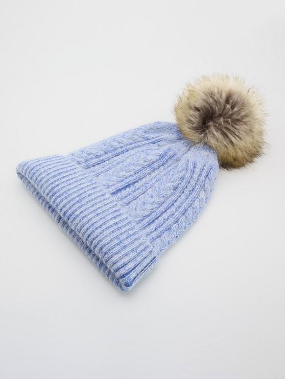 الشتاء مزين محبوك قبعة مزركشة - السماء الزرقاء