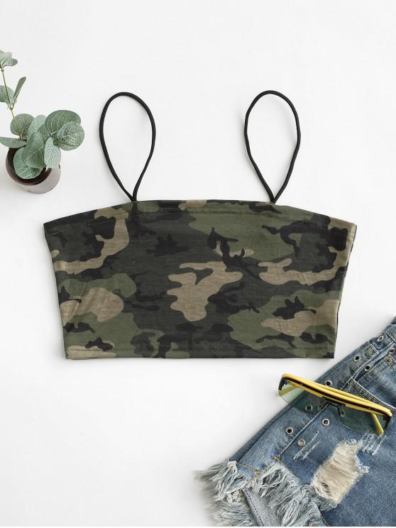 trendy Camouflage Crop Cami Top - ACU CAMOUFLAGE S