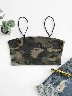 Camouflage Crop Cami Top - Acu Camouflage S