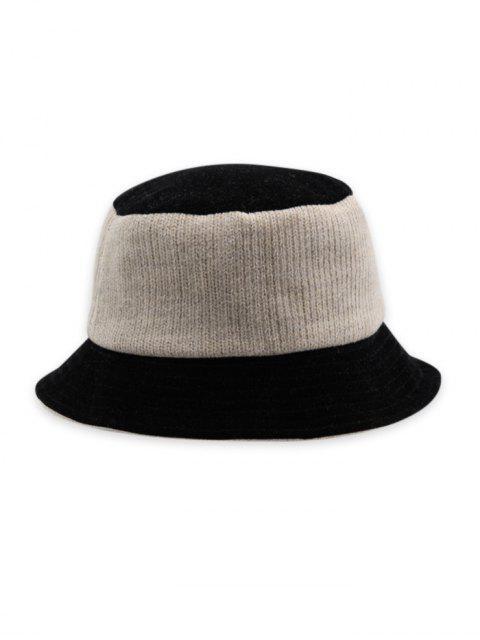 Tricoté Patchwork réversible Chapeau - Blanc Lait  Mobile
