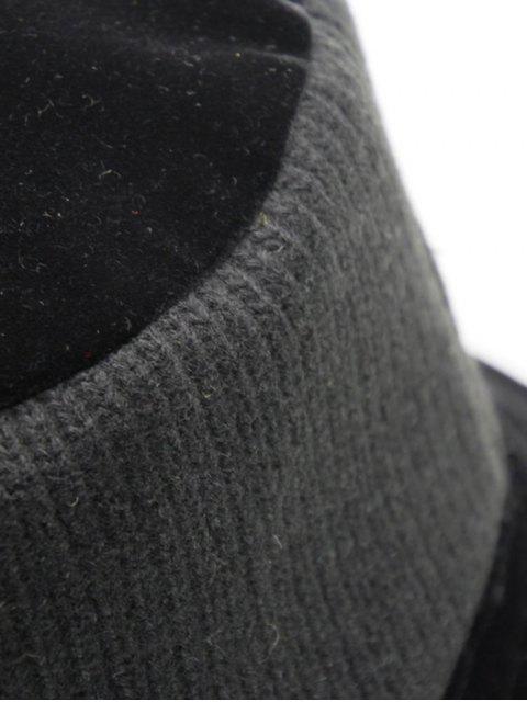 Chapeau Seau Réversible Tricoté en Daim - Noir  Mobile