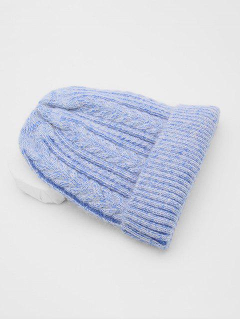 Зимняя Плетеная Вязаная Шляпа - Небесно-голубой  Mobile