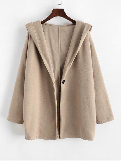 Manteau à Capuche Goutte Epaule à Un Bouton - Marron Camel S Mobile