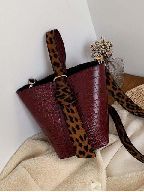 2 Stück Tierdruck PU-Leder-Handtaschen-Set - Schamotte  Mobile