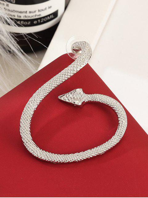Форма змеи Серьга-манжета - Серебристый  Mobile