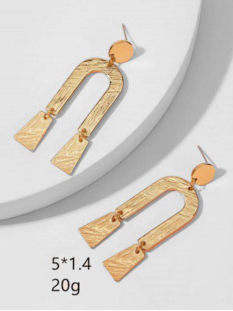 Moderne U-förmige Ohrringe - Gold  Mobile