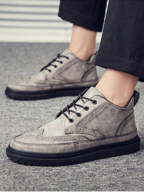 British Style Wingtip-Ankle-Boot - Grau EU 40 Mobile