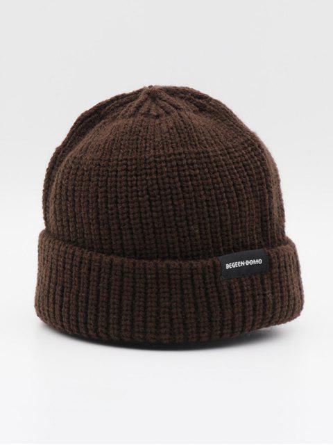 Повседневная Одноцветная Вязаная Шляпа - Кофейный  Mobile