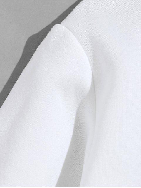 魚圖形文字打印衛衣 - 白色 M Mobile