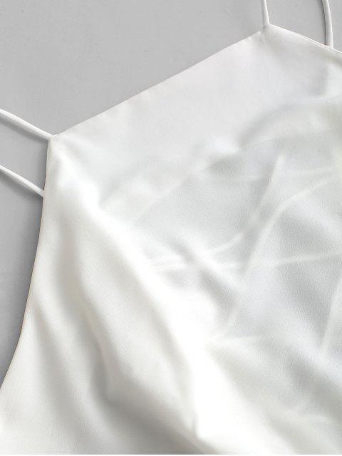Cami Top de Panel con Encaje - Blanco XL Mobile