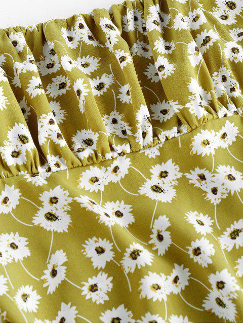 ZAFUL Mini Cami Kleid mit Blumenmuster - Grüne Avocado L Mobile