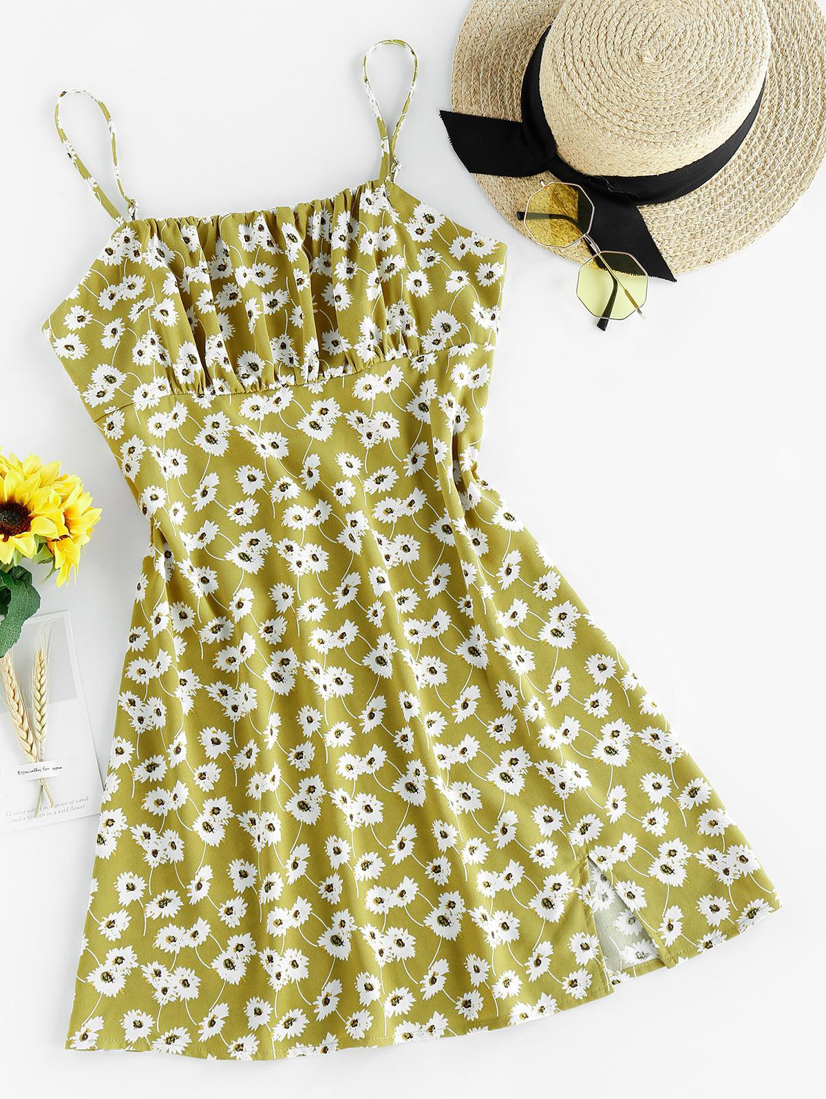 ZAFUL Floral Mini Cami Dress
