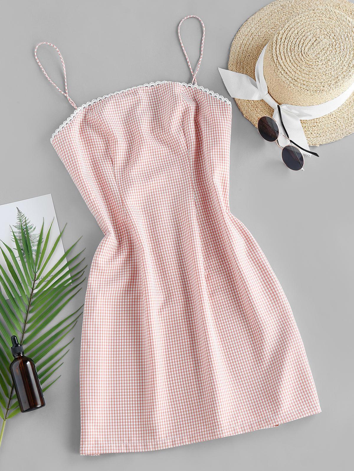 ZAFUL Checked Mini Cami Dress