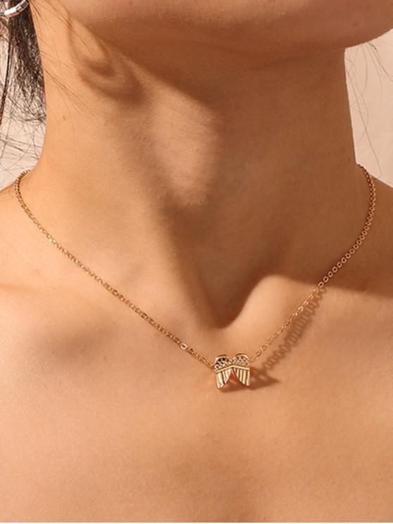 women's Wings Pendant Collarbone Necklace - GOLD
