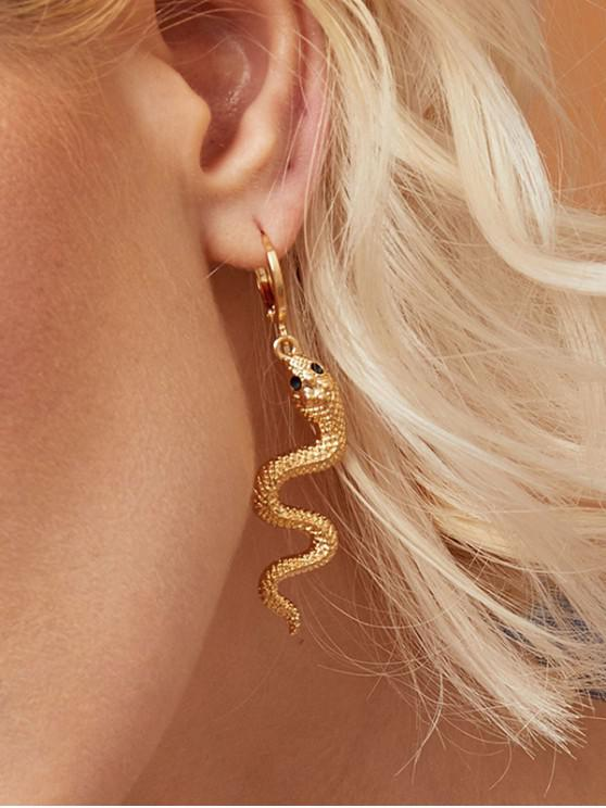 new Metal Snake Drop Earrings - GOLD