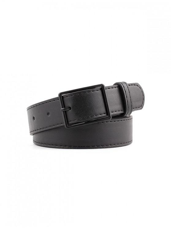 outfits Leather Simple Casual Buckle Belt - BLACK