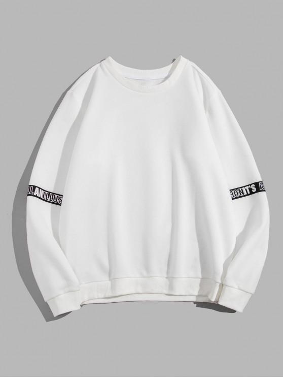 new ZAFUL Casual Style Letter Graphic Printed Sweatshirt - MILK WHITE 2XL