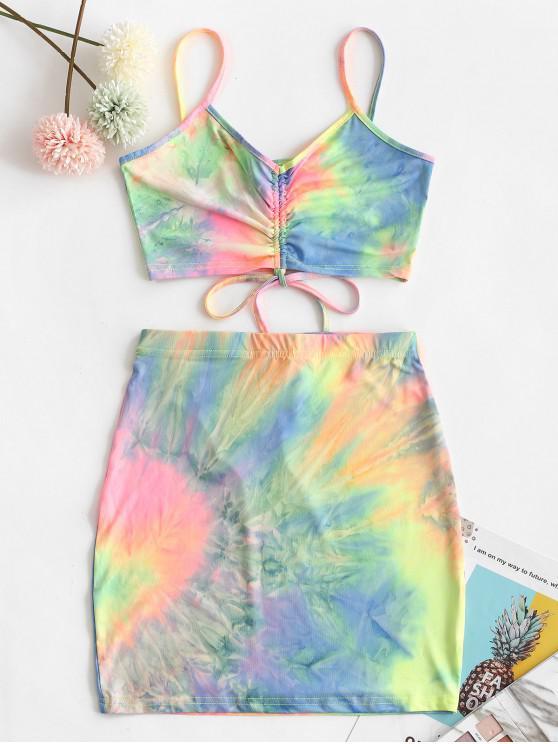 Tie Dye Короткий Набор Из двух частей - Многоцветный-Б M