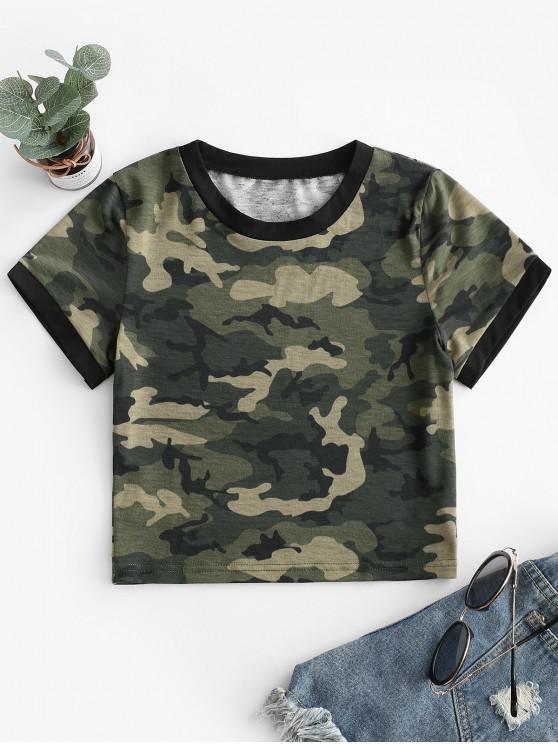 online Camouflage Crop Short Sleeves Tee - ACU CAMOUFLAGE S