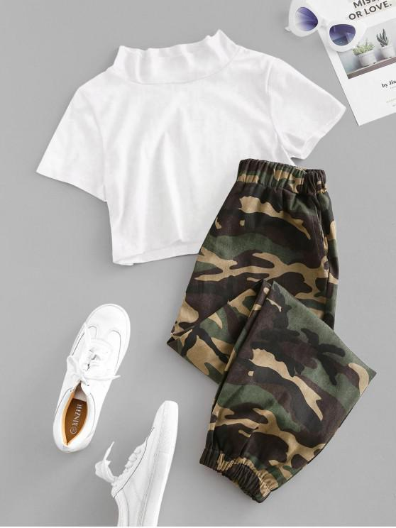 women's Camouflage Crop Two Piece Suit - MULTI XL