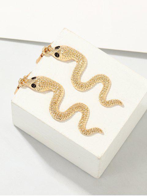 Металл Змея Серьги - Золотой  Mobile
