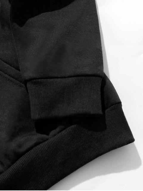 ZAFUL信心型口袋連帽衫 - 黑色 S Mobile