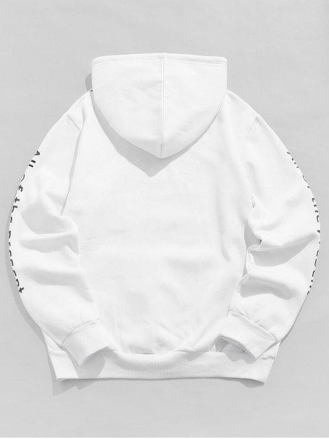 ZAFUL本函圖形打印抽繩連帽外套 - 白色 M Mobile