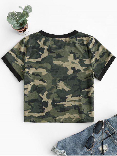 迷彩クロップショートスリーブTシャツ - ACUカモフラージュ XL Mobile