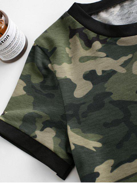 online Camouflage Crop Short Sleeves Tee - ACU CAMOUFLAGE S Mobile