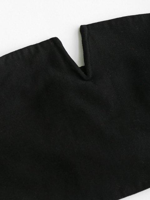 fancy ZAFUL V Notched Plaid Strapless Overlap Shorts Set - LAVA RED L Mobile