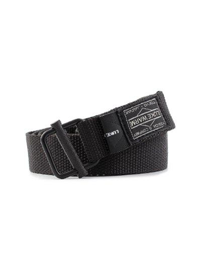 Casual Canvas Tape Belt - Black