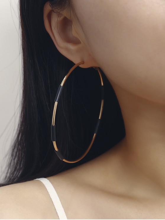 hot Two Tone Big Hoop Earrings - GOLD