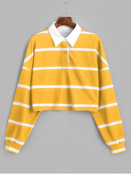 ZAFUL Sweat-shirt Court Rayé - Multi-A S