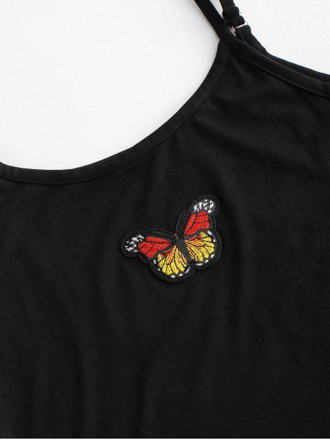 Vestido Cami Parchado Mariposa Ajustado - Negro XL Mobile