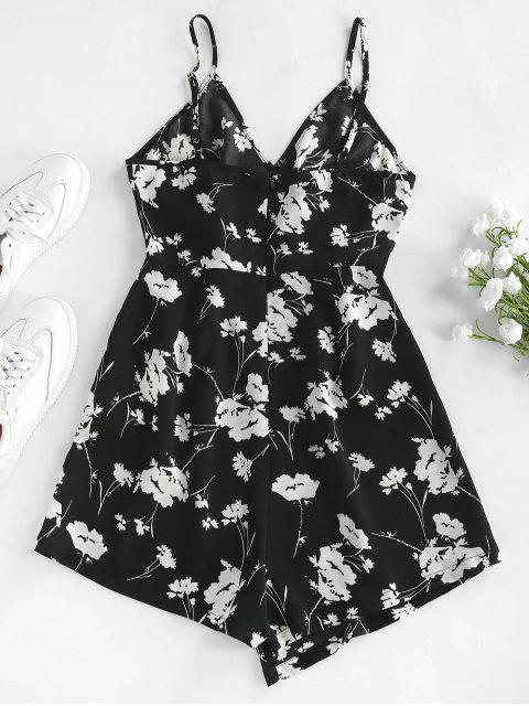 ZAFUL Asymmetrischer Camisole mit Blumendruck - Schwarz M Mobile