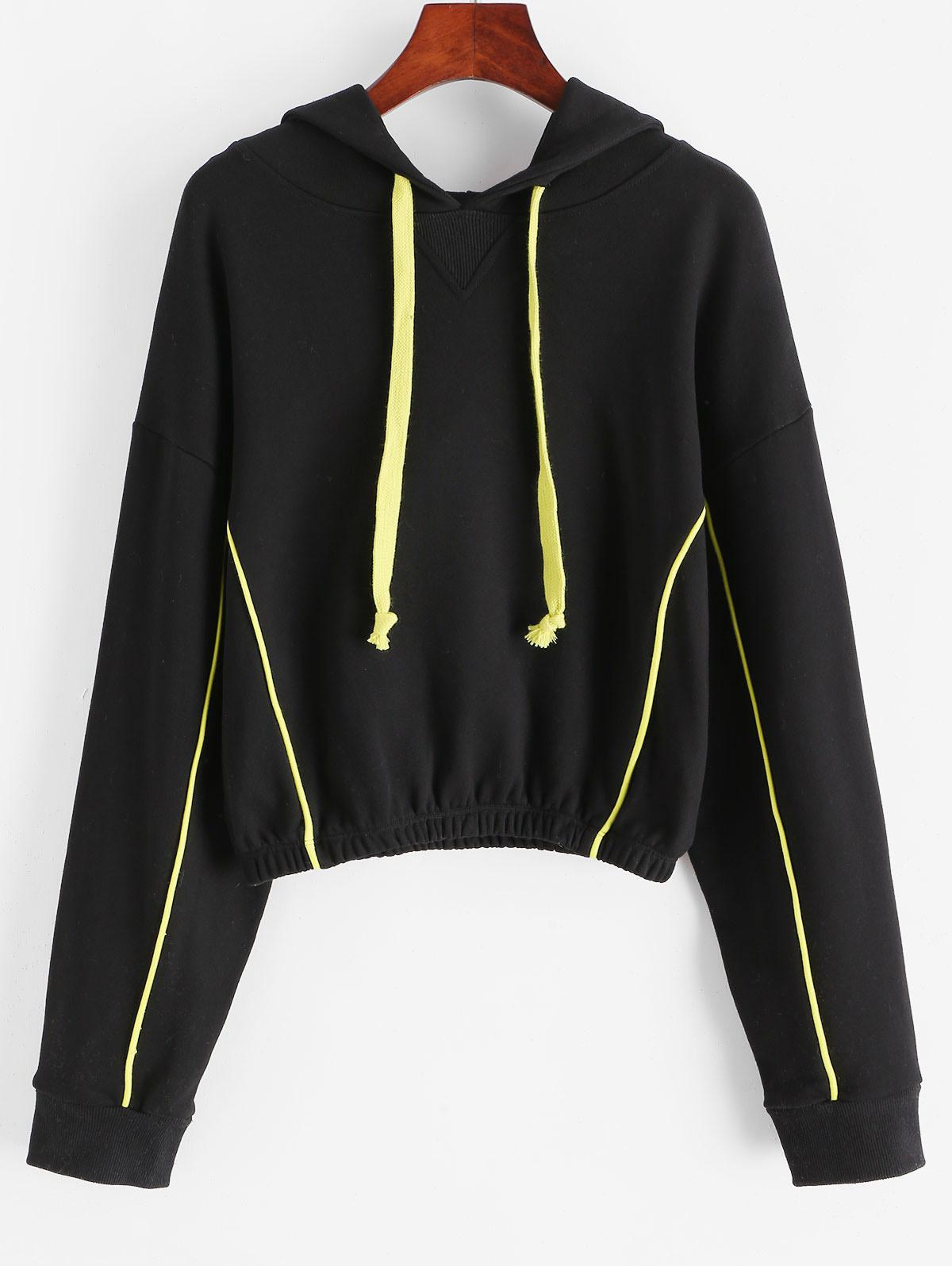 French Terry Piping Hoodie