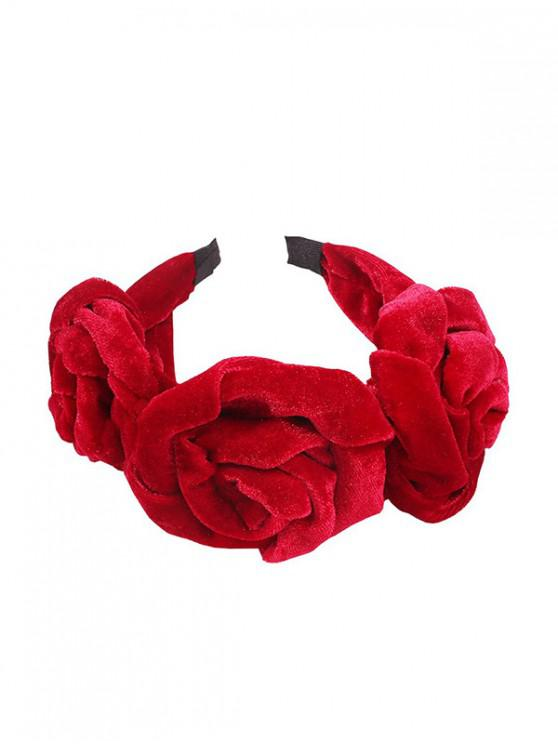 chic Flower Hairband - RED
