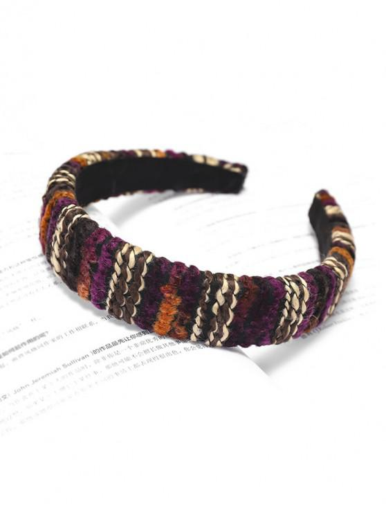 women Woolen Yarn Hairband - MAROON