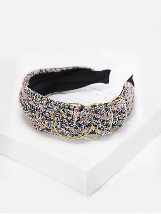 new Tweed Alloy Embellished Hairband - BLACK