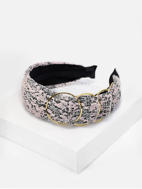 outfit Tweed Alloy Embellished Hairband - PINK ROSE