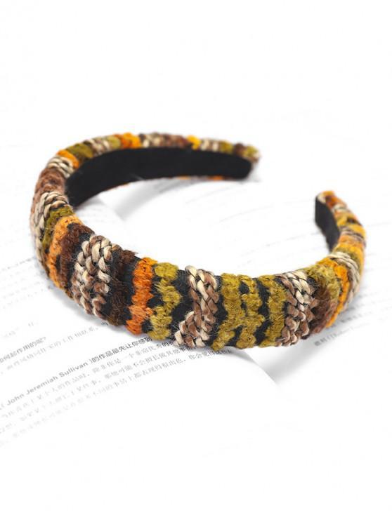 trendy Woolen Yarn Hairband - ORANGE GOLD