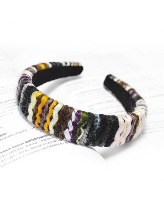chic Woolen Yarn Hairband - BLACK