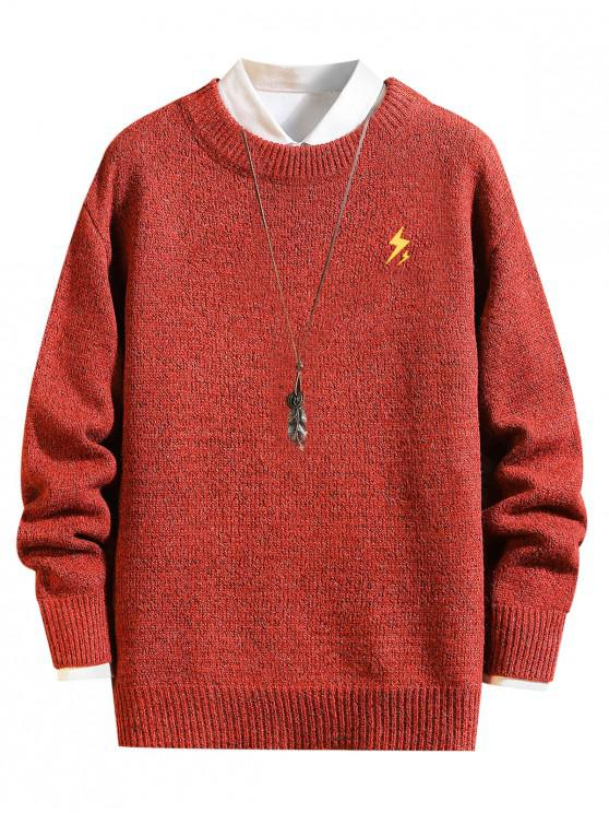 shops Weather Pattern Graphic Sweater - LAVA RED S