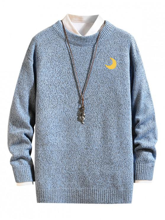 new Weather Pattern Graphic Sweater - SEA BLUE L