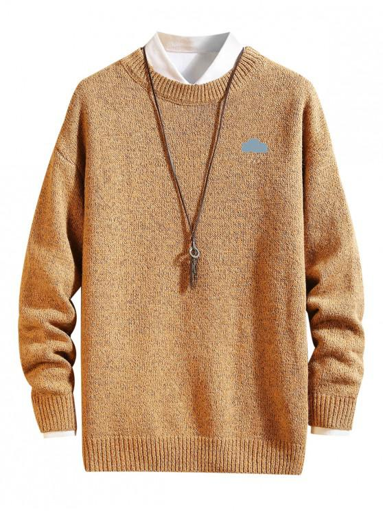 latest Weather Pattern Graphic Sweater - GINGER BROWN XL
